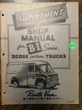 shop manual for B1 series dodge truck route van - $18.55