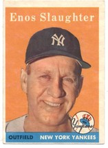1958 Topps #142 Enos Slaughter Yankees EX/NM   ID:797094 - $28.50