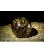 The Portal to the Dragons Realm natural Dragon Blood Jasper Sphere izida... - $323.00