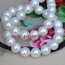 """long AAAAA luster 36""""12-13mm round REAL south sea white pearl necklace 1... - $1,108.00"""