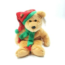 "Christmas Ty Beanie Buddies 2003 Holiday Teddy Bear 14"" Plush Retired Ne... - $17.34"
