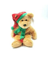 "Christmas Ty Beanie Buddies 2003 Holiday Teddy Bear 14"" Plush Retired New w/ Tag - $17.34"