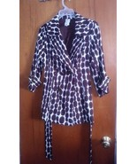 Womens Brown Fashion Polka Dot Polyester Top Dress Jackets Blazers Size ... - $19.80
