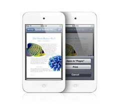 Apple Ipod Touch 4th Generation MP4MD057LL 32GB 3.5'' MP4 Player Bluetoo... - $130.00