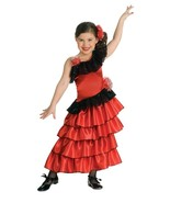 Sophisticated Flamenco Red Spanish Princess Dress-up Costume/Headpiece, Rubies - £19.42 GBP