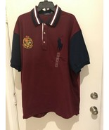 Polo Ralph Lauren Big Pony Crest Mesh Rugby Shirt Red LT NWT - $60.53