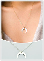 New fashion jewelry  Crescent horns moon pendant necklace  gift for wome... - $14.00