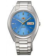 Orient 3 Star FAB00005J9 Automatic unisex watch blue dial stainless stee... - $79.00