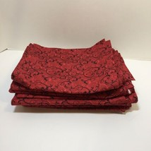 7 Pieces Red with Black Vines Fabric JoAnn Fabric Cotton 6+ Yards - $29.02