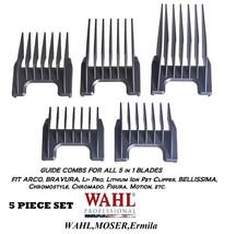 Wahl 5 In 1 Blade Attachment Guide Comb 5pc Set For Arco,Bravura,Figura,Chromado - $29.99