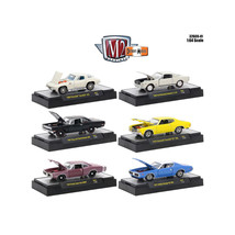 Detroit Muscle 6 Cars Set Release 41 IN DISPLAY CASES 1/64 Diecast Model Cars by - $49.51