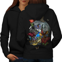 Skull Sugar Head Art Sweatshirt Hoody Mad Tattoo Women Hoodie Back - $21.99+