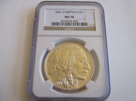 2001-D , American Buffalo , NGC , MS 70 - $589.05