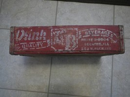 Vtg F&B Beverages Bottling Decatur IL Wood Soda Crate over Dad's Root Be... - $60.00