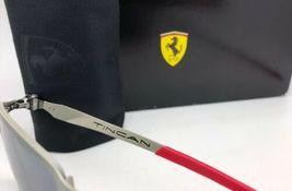 Polarisiert Oakley Sonnenbrille Scuderia Ferrari Tincan OO4082-09 Schwarz Chrom image 8