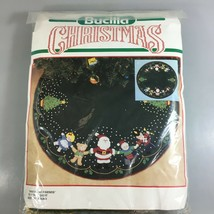 "Bucilla Christmas Tree Felt Skirt Kit 36"" Santa and Friends 82724 USA Made - $37.73"