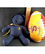 USC Trojans NCAA College Football Plush Stuffed Hand Sewn Bear w/ Footba... - $14.25