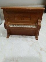 Vintage  Music Box piano shaped made Republic of China works  Musical Ho... - $6.76