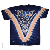 New Los Angeles Rams Tie Dye V Dye T-Shirt Licensed Nfl Team Apparel - $24.99