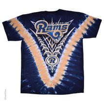 New  LOS ANGELES RAMS  Tie Dye V Dye T-Shirt  LICENSED NFL TEAM APPAREL - $24.99