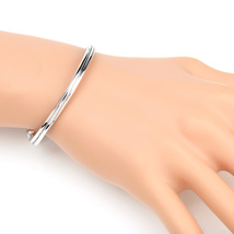 UE- Stylish Silver Tone Multi Strand Intertwined Designer Bangle Bracelet - $14.99