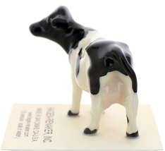 Hagen-Renaker Miniature Ceramic Cow Figurine Holstein Bull Cow and Calf Set image 10