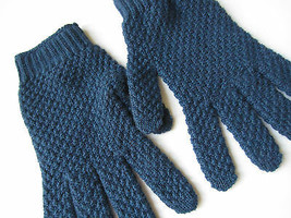 Paul Smith 100% Cashmere Blue Gloves - $129.19