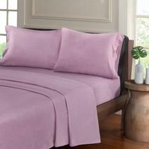 Luxury Purple Heathered Cotton Jersey Knit Sheet Set - ALL SIZES - $55.99+