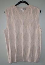Joe Joseph Abboud Sweater Vest Shirt Cotton Tan Argyle Mens Size S/P - $19.89 CAD