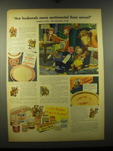 1948 Borden's Lady Borden Ice Cream and Chateau Cheese Ad - husbands - $14.99