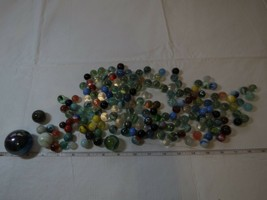 vintage collection marbles akro agate corkscrew swirl different sizes lot slag - $64.13