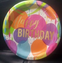 New Unique Happy Birthday 8   5/8 In Plates   GB2 - $6.47