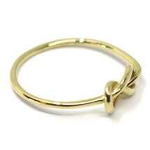 18K YELLOW GOLD INFINITE CENTRAL RING, INFINITY, SMOOTH, BRIGHT, KNOT DIAM. 5mm image 2