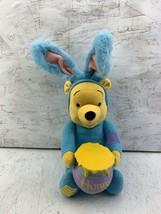 Winnie the Pooh as Rabbit Talking Blue Honey Pot Bunny Plush Applause Di... - $9.89