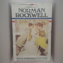 A Salute To Norman Rockwell Vintage 500 Piece Jigsaw Puzzle By Jaymar Ne... - $23.36