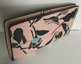 New Kate Spade New York Cameron Paper Rose Large Slim Bifold wallet Pink multi - $62.00