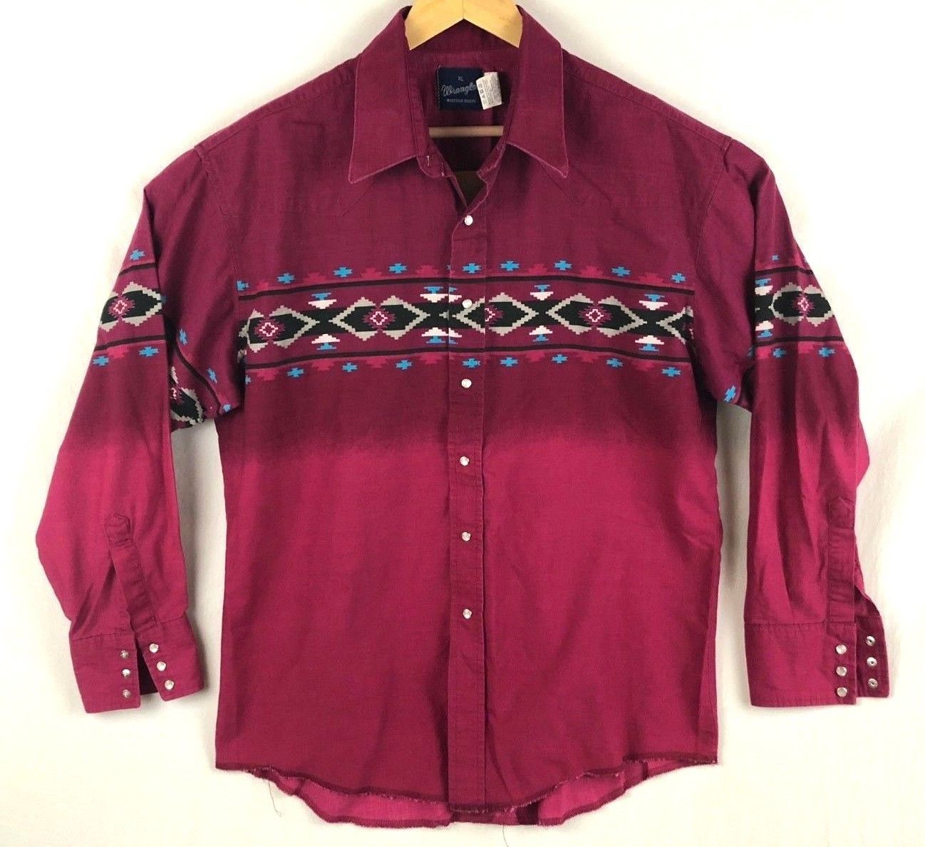 b6989667 Vintage Wrangler Mens Aztec Red Two Tone and 50 similar items