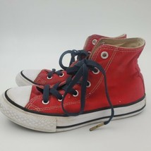 Converse All Star Boys Girls Red High Top Sneakers Shoes Youth Sz 1 Chuc... - $12.40