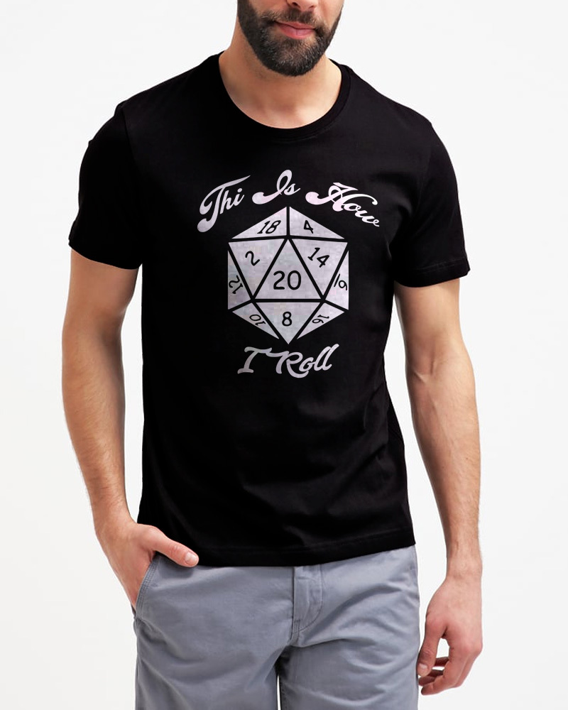 20 sided dice shirt geek gamer 01