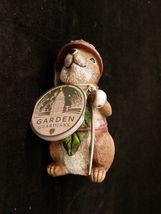Department 56 Garden Guardians Chester the Chipmunk w Walnut Helmet Twig Spear image 6