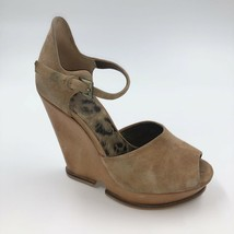 Sam Edelman Platform Sandals 6.5 Leather Tan Brown Heels Ankle Strap Womens - $20.59