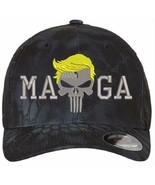 Donald Trump Hat - MAGA Punisher Version 6277 Kryptek Flex Fit Hat S/M L/XL - $22.99