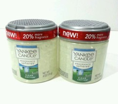 Yankee Candle Fragrance Spheres odor neutralizing beads  Set 2 CLEAN COTTON - $15.85