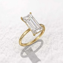 2.40 Ct Baguette Cut Diamond Solitaire Engagement Ring 14K Yellow Gold F... - $179.99