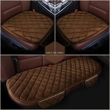 Coffee Color 3 Pcs Soft Comfortable Car Cushion Non-slip Breathable 2 Pc... - $34.75
