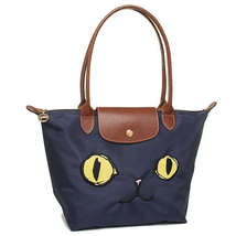 France Made Longchamp Le Pliage Miaou Cat Small Tote Bag Navy 2605576556... - $150.00