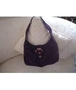 Emilie M. Purple Faux Suede Womens Purse Hand Bag Sachel - $25.00