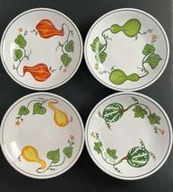 "4 Piece Williams-Sonoma Pasta Bowl 9""- Autumn Fall Squash Gourd Pattern ... - $79.19"