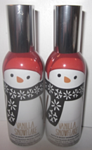 2 sprays Bath & Body Works Room Spray 1.5 oz  snowman Vanilla Snowflake - $29.99