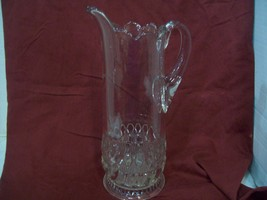 Beautiful Tall Two (2) Quart Glass Pitcher, G100, Free Shipping N2 - $34.60